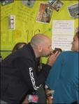 Principal Rosen kissing Picasso!