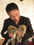 Adopter with his pups!