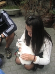 Frankie with an interested adopter!